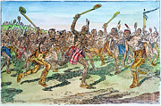 18th Century Drawings - Iroquois - Lacrosse.  by Granger