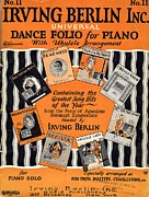 I Wonder Framed Prints - Irving Berlin Dance Folio for Piano Framed Print by Mel Thompson