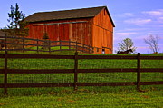 Amish Framed Prints - Is Every Barn Red Framed Print by Robert Harmon