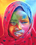 Tanzania Paintings - Is it a Boy or a Girl? by Stephen Bennett