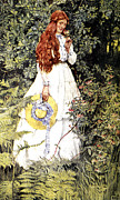 Garden Scene Framed Prints - Is She Not Pure Gold My Mistress Framed Print by Eleanor Fortescue Brickdale