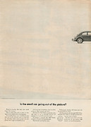 Old Auto Posters - Is the small car going out of the picture Poster by Nomad Art And  Design