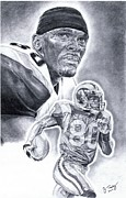 Isaac Bruce Print by Jonathan Tooley