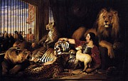 Landseer Paintings - Isaac Van Amburgh and Animals by Pg Reproductions