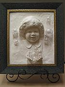 Mixed Media Reliefs Originals - Isabel Joy by Tomi LaPierre
