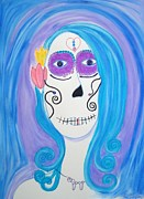 Day Of The Dead Pastels - Isabel by Quentin H Willis