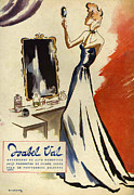 Featured Metal Prints - Isabel Val 1942 1940s Spain Cc Mirrors Metal Print by The Advertising Archives
