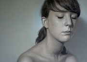 Photo Realism Drawings - Isabell II by Dirk Dzimirsky