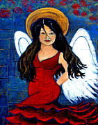 Charlotte Mixed Media Metal Prints - Isabella  A Spanish Earth Angel From Cultures Around The World Metal Print by The Art With A Heart By Charlotte Phillips