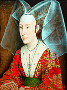 Duchess Framed Prints - Isabella of Portugal 1397-1471 Framed Print by Li   van Saathoff