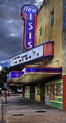 Stockyards Posters - Isis Movie Theater Poster by David and Carol Kelly