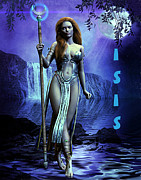 Warrior Goddess Digital Art Prints - Isis Print by Rose Marie Paradise