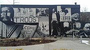 Isis Theater 3102 Troost Ave Kansas City Mo Side Of The Building Tribute Print by Sonya Wilson