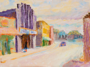 Impressionist Paintings - Isis Theater West Asheville by Lisa Blackshear