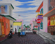 Bicycling Paintings - Isla Mujeres by Kenneth Stockton