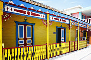 Mujeres Prints - Isla Mujeres Street Colors Print by George Oze