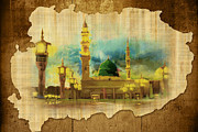 Muslims Of The World Paintings - Islamic Calligraphy 035 by Catf