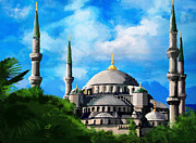Blessings Paintings - Islamic Mosque by Catf