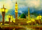 Blessings Painting Posters - Islamic Painting 002 Poster by Catf