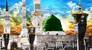 Islamic Painting 004 Print by Catf