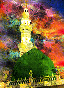 Islamic Painting 007 Print by Catf