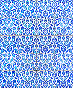 Ceramic Tile Prints - Islamic Tiles 01 Print by Antony McAulay