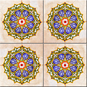 Ceramic Tile Prints - Islamic Tiles 03 Print by Antony McAulay