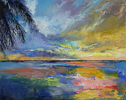 Islamorada Prints - Islamorada Sunset Print by Michael Creese