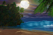 Backdrop Digital Art - Island Beach by Corey Ford