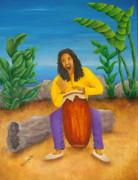 Island Beat Print by Pamela Allegretto