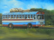 Cargo Paintings - Island Bus by Kenneth Harris
