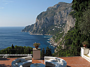 Flowerpot Photos - Island Capri - A Nice Terrace View by Kiril Stanchev
