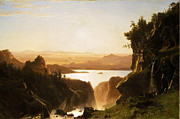Famous Artists - Island Lake Wind River Range Wyoming by Albert Bierstadt