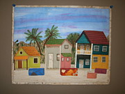Painted Tapestries - Textiles Prints - Island Life Print by Linda Egland