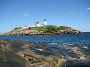 Nubble Lighthouse Originals - Island Lighthouse by Melissa McCrann