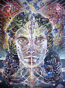 Visionary Art Paintings - Island of Myself by Kuba Ambrose