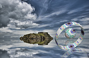 Trippy Framed Prints - Island Ring and Sphere Framed Print by Steve Purnell