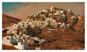 Holiday Pyrography Framed Prints - Island Serifos Framed Print by Christo Christov