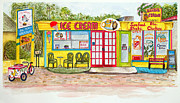 Restaurant Signs Paintings - Island Shoppes by Judy Jennings