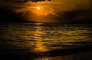 Landscape Prints Prints - Island Sunset Print by Puget  Exposure