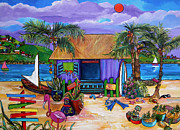 Tropical Painting Framed Prints - Island Time Framed Print by Patti Schermerhorn