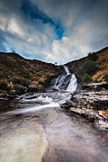 Skye Digital Art Posters - Isle of Skye Waterfall Poster by Keith Thorburn