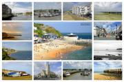 Ocean Framed Prints - Isle of Wight Collage - Labelled Framed Print by Rod Johnson