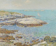 New Hampshire Framed Prints - Isles of Shoals Framed Print by Childe Hassam