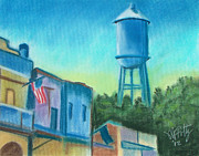 Downtown Pastels Originals - Isleton Old Town by Michael Foltz