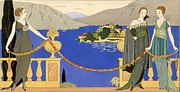 Stencil Framed Prints - Isola Bella Framed Print by Georges Barbier