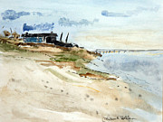 Eastham Painting Posters - Isolated Beach House Poster by Michael Helfen