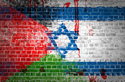 Bloodshed Prints - Israeli occupation Print by Antony McAulay