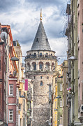 Constantinople Art - Istanbul Galata Tower by Antony McAulay