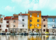 Old Houses Painting Acrylic Prints - Istria Acrylic Print by Mo T